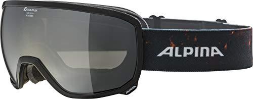 ALPINA SCARABEO Skibrille, Unisex– Erwachsene, black transparent, one size