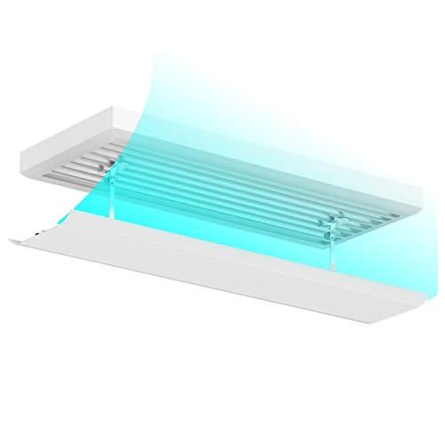 FYZS Parabrisas de aire acondicionado Aire acondicionado Deflector de viento Aire acondicionado central Deflector de viento, deflector de aire frío anti-volta directo universal, ángulo ajustable, tech
