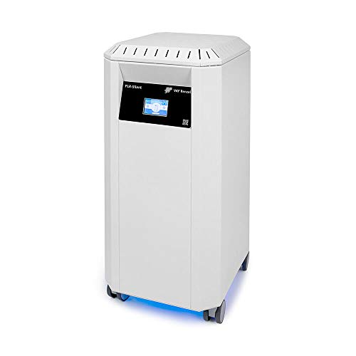 """Luftreiniger """"PLR-Silent"""" / HEPA-Filter H14 / Abscheidegrad 99,995% / Reinigungsleistung 1.062 m³/h/Raumgröße: bis 150 m² / zuschaltbares UV-C Licht / 3 Filterstufen/leicht & mobil - nur 22kg /"""