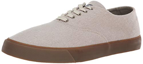Sperry Men's Captain's CVO Wool Sneaker, Cement, 8 M US