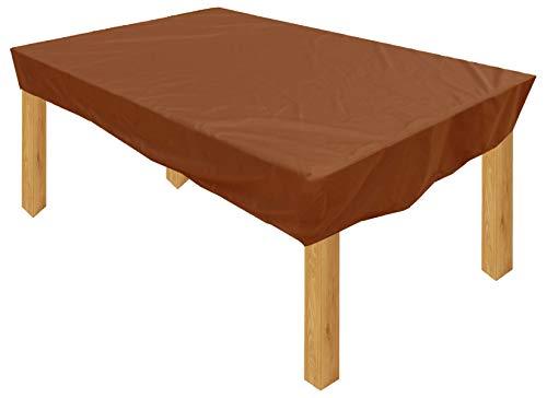KaufPirat Premium Housse de Protection Bâche Imperméable 180x100x15 cm Couverture de Table de Jardin Housse protectrice pour mobilier de Jardin en Polyester Oxford Café Latte