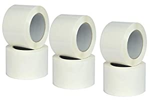 Adhesive Tape White, Scoch Packaging, Ultra Durable, Ideal for Packaging Packages, Measures 75mm x 132m - 6 Rolls Scocht