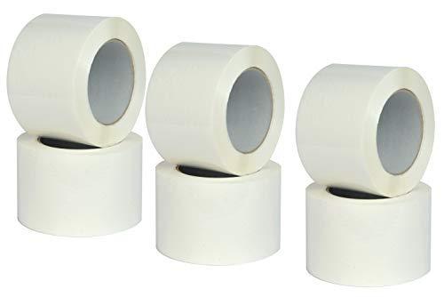 Nastro Adesivo Bianco, Scoch imballo, Ultra resistente, ideale per Imballaggio Pacchi, misure 75mm x 132m - 6 Rotoli scocht