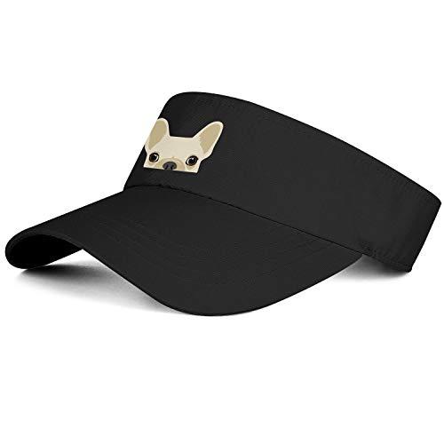 Men's/Women's Top Level Vent Sun Visor Hat Funny French Bulldog Puppiesblack Classic Cap