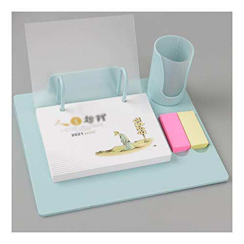 Calendarios de escritorio 2021 Calendario de escritorio destrozado Calendario simple multifunción de negocios plan de trabajo de oficina Bloc de notas Planificador Calendario Inicio, 3 colores Product