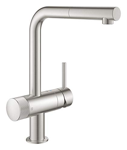 Grohe Blue Pure Minta 31721DC0 Single-Lever Sink Mixer Tap with Filter Function Supersteel