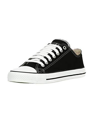 Ethletic Unisex Sneaker Lo Fair Trainer White Cap Jet Black   just White 47 Fair   Vegan   Nachhaltig