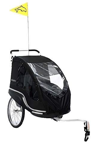 Fahrradanhänger Dolphin New Edition rot (Sitzfläche: 20 x 54 cm / Breite: 79 cm / Gewicht: 13,3 kg / Tragfähigkeit: 45 kg)