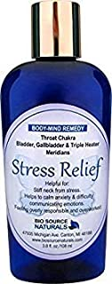 Stress Relief Body Mind Vibrational Remedy Lotion 3.8 oz. - Feeling Overwhelmed - Made with Bach Flower Essences, Gem Elixirs and Pure Essential Oils Essences