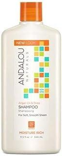 Andalou Naturals Argan Oil and Shea Moisture Rich Shampoo, Pack of 3