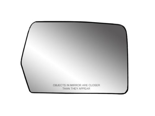 "Fit System 30194 Passenger Side Heated Mirror Glass w/Backing Plate, Ford F150, Lincoln Mark LT, 6 13/16"" x 9 1/8"" x 10 1/2"" (w/o Blind Spot)"