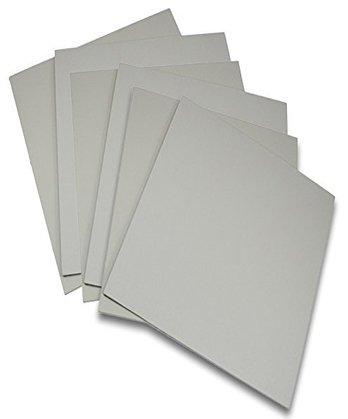 Battleship Gray Traditional Carving Printing Studio 6 Pack of Firm Sheets Unmounted Artist Printmaking Art Set (4' x 6')