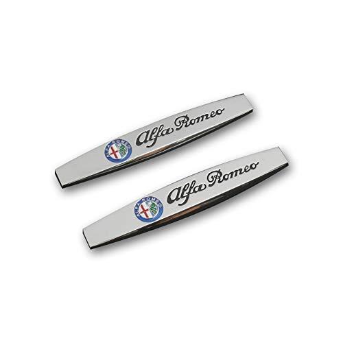 Auto Kotflügel Seitenaufkleber Zubehör Auto Metall Emblem Abzeichen, für Alfa Romeo 4C 8C 156 Giulietta Stelvio Spider GT Giulia Mito Brera 159 156 147