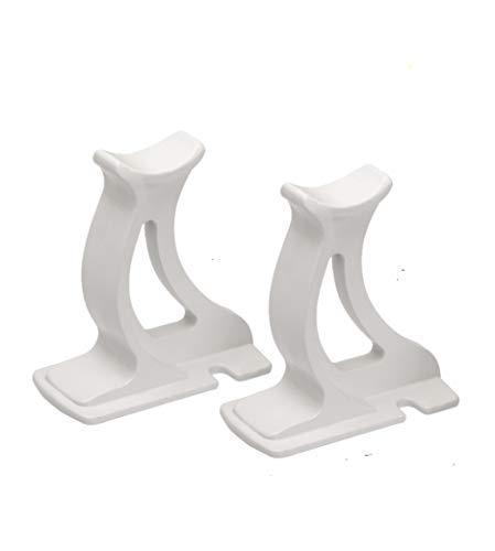 """""""Valdern"""" - Par de patas de soporte para radiador (100 mm de alto), color blanco"""