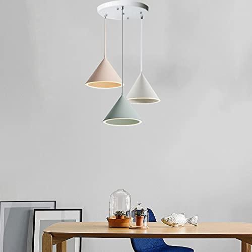 ZJING Lámpara Colgante LED Minimalista Macarrón, Lámpara Industrial Retro, Decoración para Lámpara Colgante, Lámpara Colgante de Estilo Moderno Simple para Isla de Cocina, Comedor,Style a