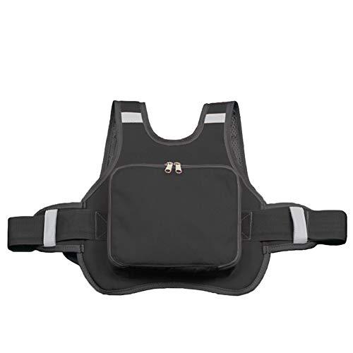 Mauel Faltbare Kind-Sicherheitsgurt mit Griffen Reflective Tough Oxford Cloth atmungsaktiv Kinder Motorrad Sicherheitsgurt für 2-12 Jährige,Schwarz