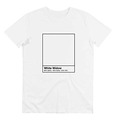 Camiseta - Cuello redondo - para hombre - WHITE WIDOW - WEED - HIERBA - MARIHUANA
