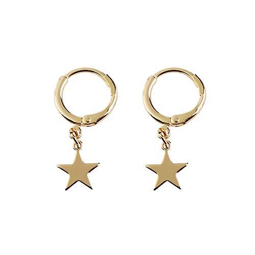 encantos Luna Crescen cuelgan los pendientes de la estrella pendiente del aro puños Pequeño para el oído decoración joyería para las mujeres las niñas adolescentes