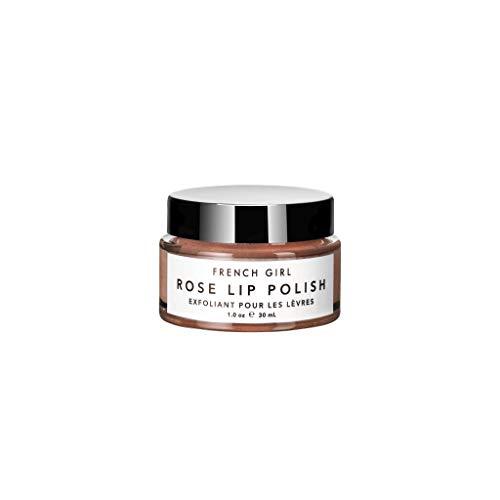 French Girl Rose Lip Polish Scrub 1 oz/ 30 mL, Lip Exfoliator, Clean, Organic, Vegan, Sugar Scrub,...