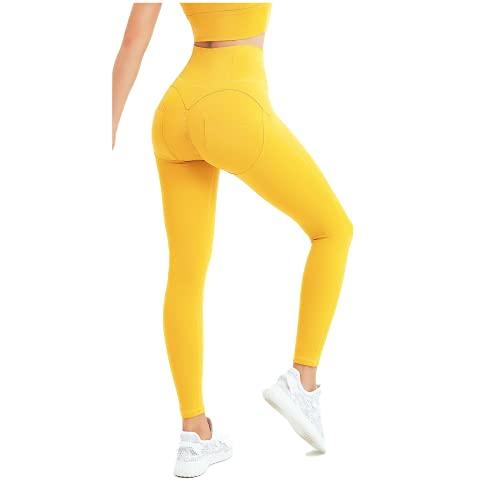 QTJY Leggings Casuales de Cintura Alta, Pantalones para Correr de Fitness para Ejercicios de Flexiones para Mujer, Pantalones de Yoga elásticos de Secado rápido ES