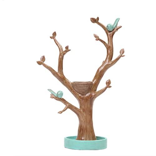 yzf Soporte de exhibición de la joyería, Soporte de joyería de Aves de Resina respetuosa con el Medio Ambiente, Adecuado para Pendientes, Collares, Pulseras, Llaves, Relojes