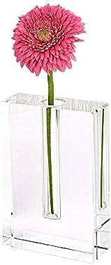 Badash Personalized Rita 6x4 Crystal Bud Vase / Custom Engraved Square Glass Stem Vase for Single Flower