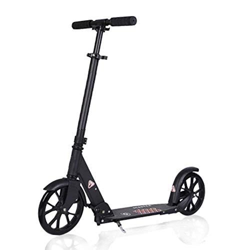 GTYMFH Scooter de pie Ultra-portátil Ligero del Viajero Vespa con Ajustable Manillar Ruedas Grandes y Guardabarros Trasero de Freno, Que no Sea eléctrico, de 220 Libras de Capacidad Scooter de Ciudad