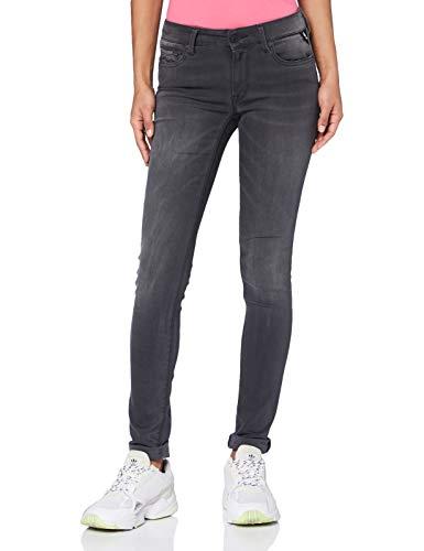 REPLAY New LUZ Jeans, Gris (096 Medium Grey), 25 W / 28 L para Mujer