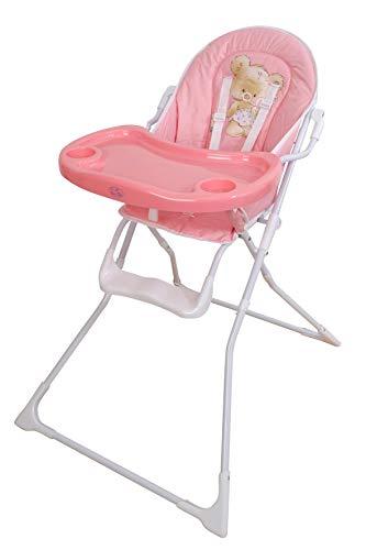Trona para bebe plegable,modelo osito rosa, silla bebé.DE REGALO BIBERON
