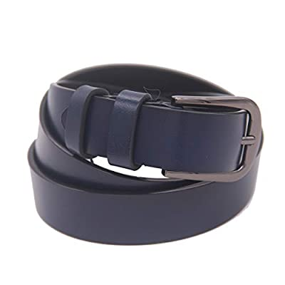 Women Leather Belt for Pants Dress Jeans Waist Belt with Alloy Buckle (navyblue)