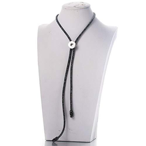 1 Stück Mix Snap Jewelry Seilkette Snap Button Chain Langkettige Snap Button Schmuck Fit 18mm ModeschmuckDunkelgrau