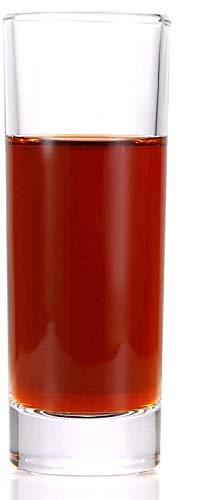 12 Bicchieri da Shot Shot Bicchieri Alti 4cl - Vetro Spesso - Stabile - Lavabile in lavastoviglie - Cristallino