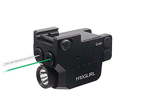 HiLight H10GLIRL 500lm Strobe Flashlight Green- Infrared (IR) Duo Laser Sights | Veteran Tested and Owned | Light Laser Combo | Pistols Handguns Rifles | Rechargeable Battery | Hard Anodized Aluminum
