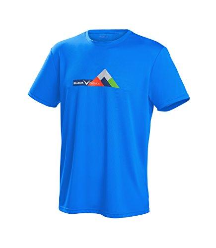 Black Crevice T-Shirt Fonctionnel pour Hommes, S, Bleu