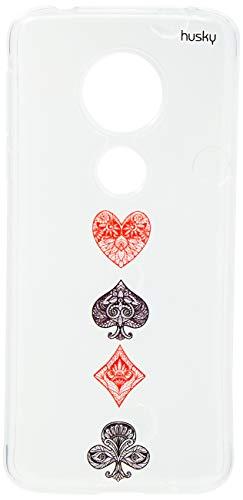 Capa Personalizada para Moto G6 Play - Naipe Cartas - Husky, Husky, Capa Protetora Flexível, Preto