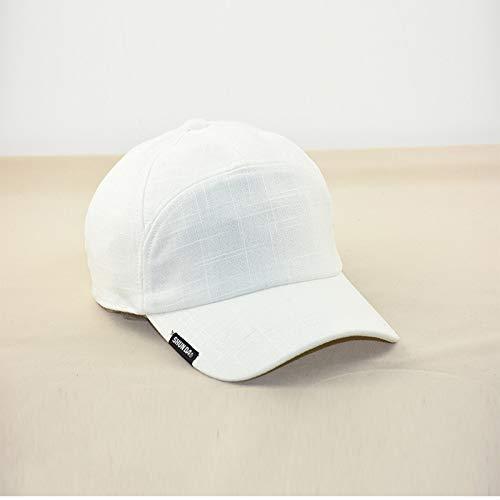 Preisvergleich Produktbild sdssup Leinen Baseballmütze vertiefen Kappe Frühling und Sommer Herrenmütze atmungsaktiv weiß einstellbar 58-64cm
