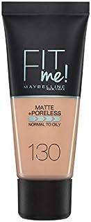 Maybelline Fit Me Matte & Poreless Foundation Buff Beige (Pack of 6) - メイベリン私にマット&無孔基礎バフベージュに合います x6 [並行輸入品]