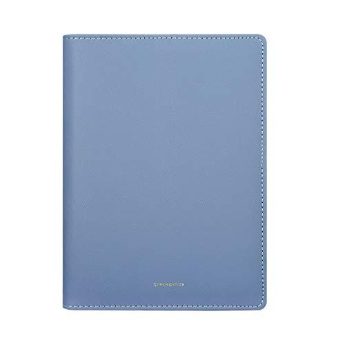 yangdan HF - Cuaderno de hojas sueltas (A5, 100 hojas, línea horizontal, grosor de papel de negocios, papelería, cuaderno de bocetos, manual (color: azul)