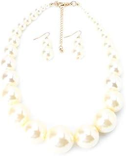 nuovo concetto 5142d 9260e Amazon.it: collana perle grandi: Gioielli