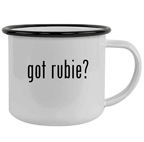 got rubie? - Sturdy 12oz Stainless Steel Camping Mug, Black