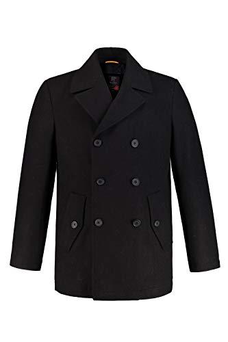JP 1880 Herren große Größen bis 7XL, Cabanjacke, Mantel mit hochwertiger Woll-Qualität, Reverskragen schwarz 3XL 700196 10-3XL