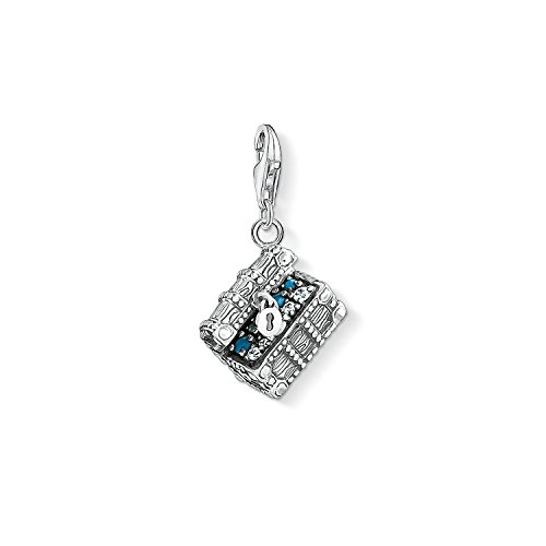 THOMAS SABO Damen-Charm-Anhänger Schatztruhe Charm Club 925 Sterling Silber 1523-347-21