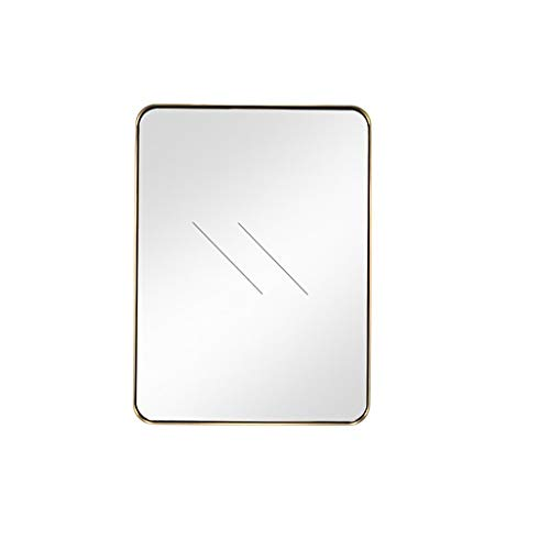 YXJBD Beauty spiegel, spiegel, wand, badkamer, toilet, decoratieve spiegel, hangende make-upspiegel, keukenspiegel 80cmx120cm messing.
