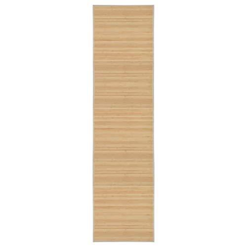 vidaXL Teppich Bambus 80x300cm Wohnzimmer Läufer Bambusteppich Bambusmatte