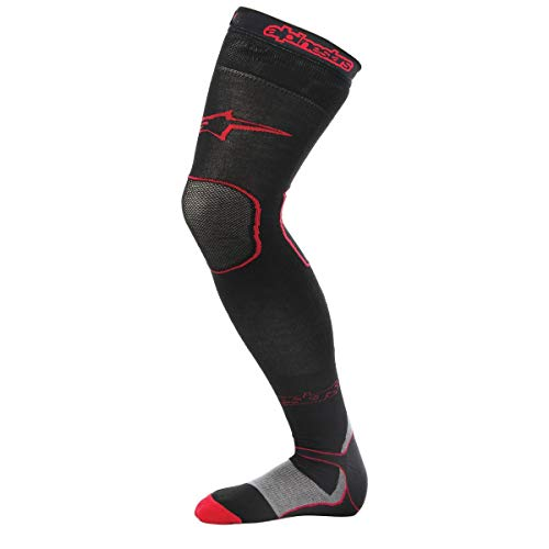 Alpinestars Unisex-Erwachsene lange Mx-Socken, rot, SM-Md (Mehrfarbig, Einheitsgröße