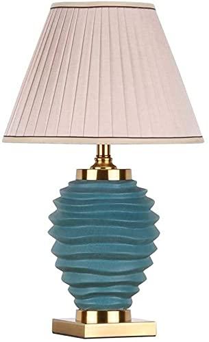 nakw88 (Verde lámpara de Mesa de cerámica nórdica, Moderna y Sencilla, lámpara de Noche para Invitados, Pasillo, Dormitorio, decoración de Hotel, 36x60 cm Lámpara de Mesa