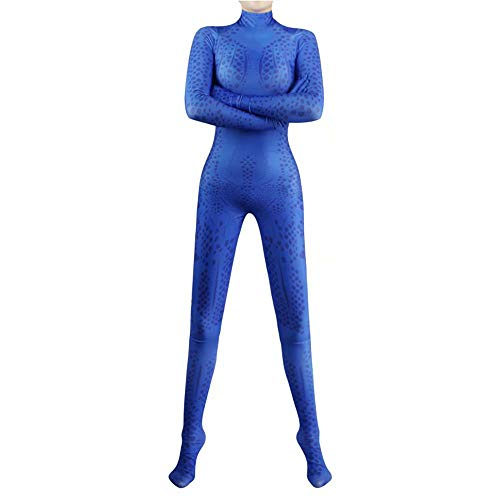 X-Men Mystique 3D Cosplay Kostüm Damen Damen Erwachsene Halloween Cosplay Kostüm Magische Phantasie Cosplay Zentai 3D Stil Body Overall Anzug