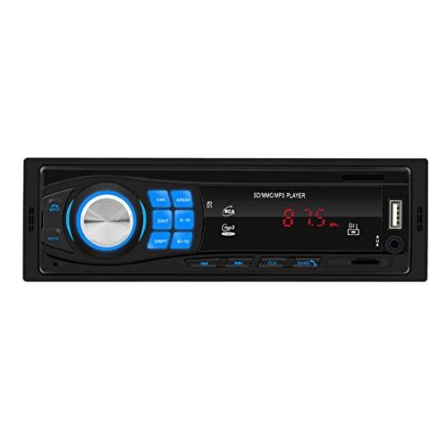 duhe189014 Bluetooth Car Audio Estéreo En El Tablero Receptor De Entrada Auxiliar FM Reproductor De Radio SD USB MP3