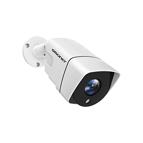 SMONET 5MP Outdoor Security Camera with 3.6mm Lens 72°View Angle High Resolution 65Ft Night Vision,Only Use for SMONET 5-in-1 Video DVR Recorder System (No Power Supply)