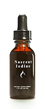 Enviromedica Nascent Iodine Liquid Tincture Drops for Support and Detoxification of the Thyroid  1ounce